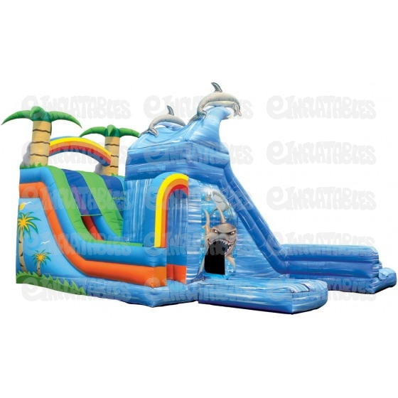 Water Slides 18 Wet Wild Dual Slide With Pools Inflatable Water Slide Is An Inflatable Bounce House For Sale And Customization Options Available Buy Yours Today